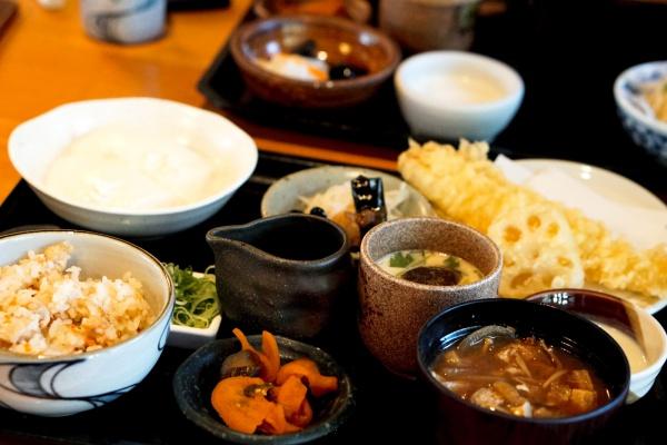 豆腐と穴子御膳