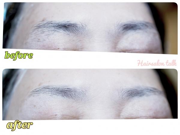 眉毛のビフォーアフター
