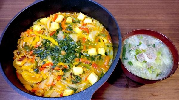 パエリア&野菜スープ