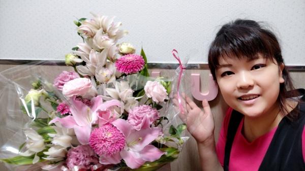 お祝いのお花ありがとうございます