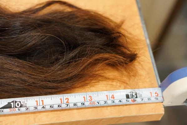 40センチ超えた髪の毛