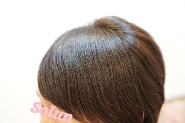 前髪のうねりリセット